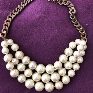 J Crew 3 strand pearl necklace